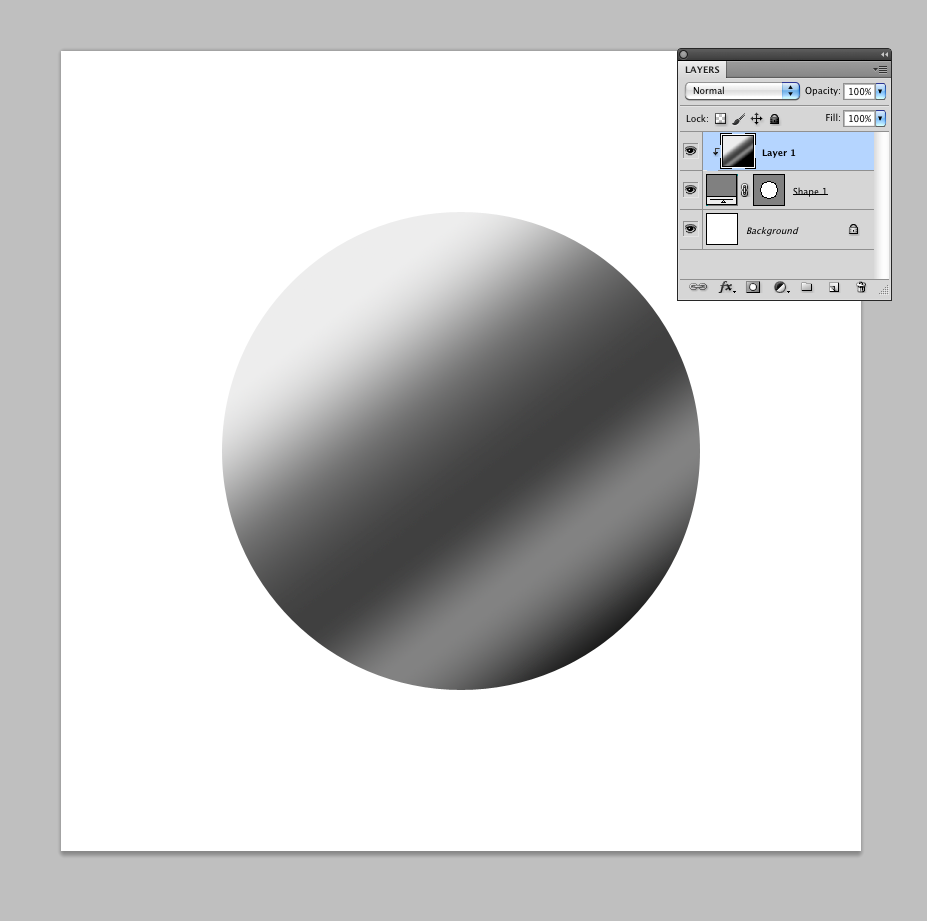 Step 2 - Fill circle with gradient