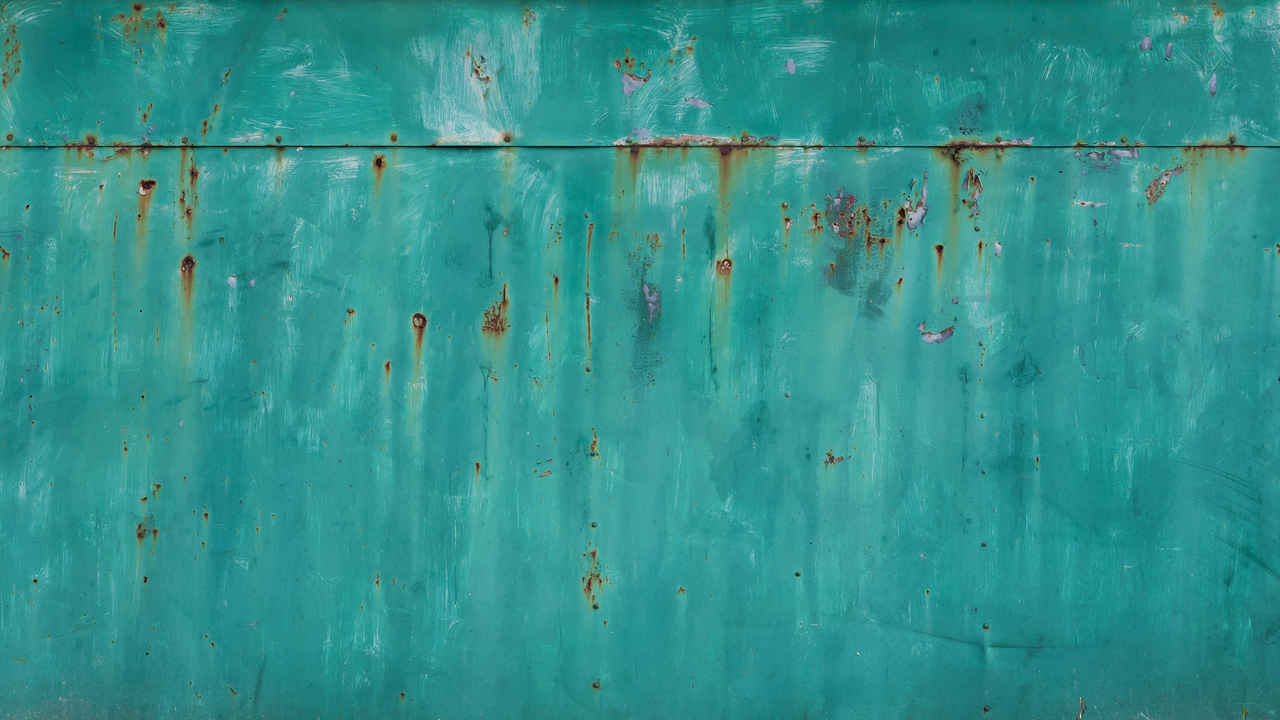 Rusted Turquoise Metal Sheet Texture