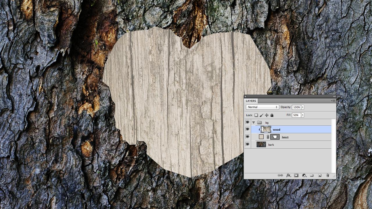 Adding heart texture