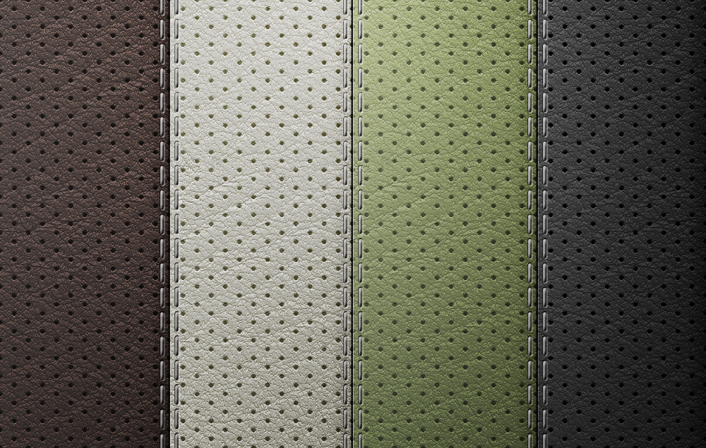 perforated leather � seamless texture set