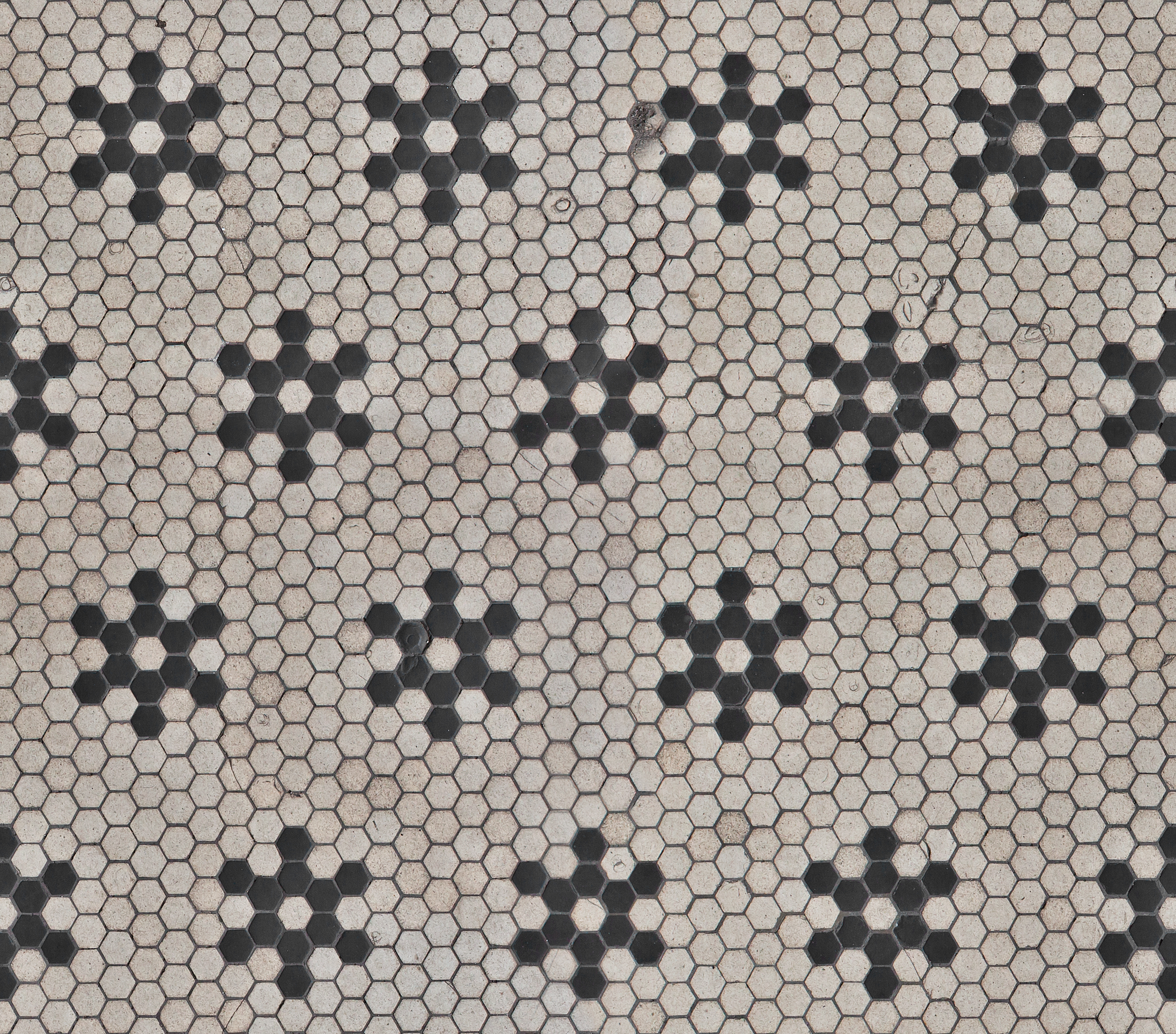 Hexagonal B W Tiles