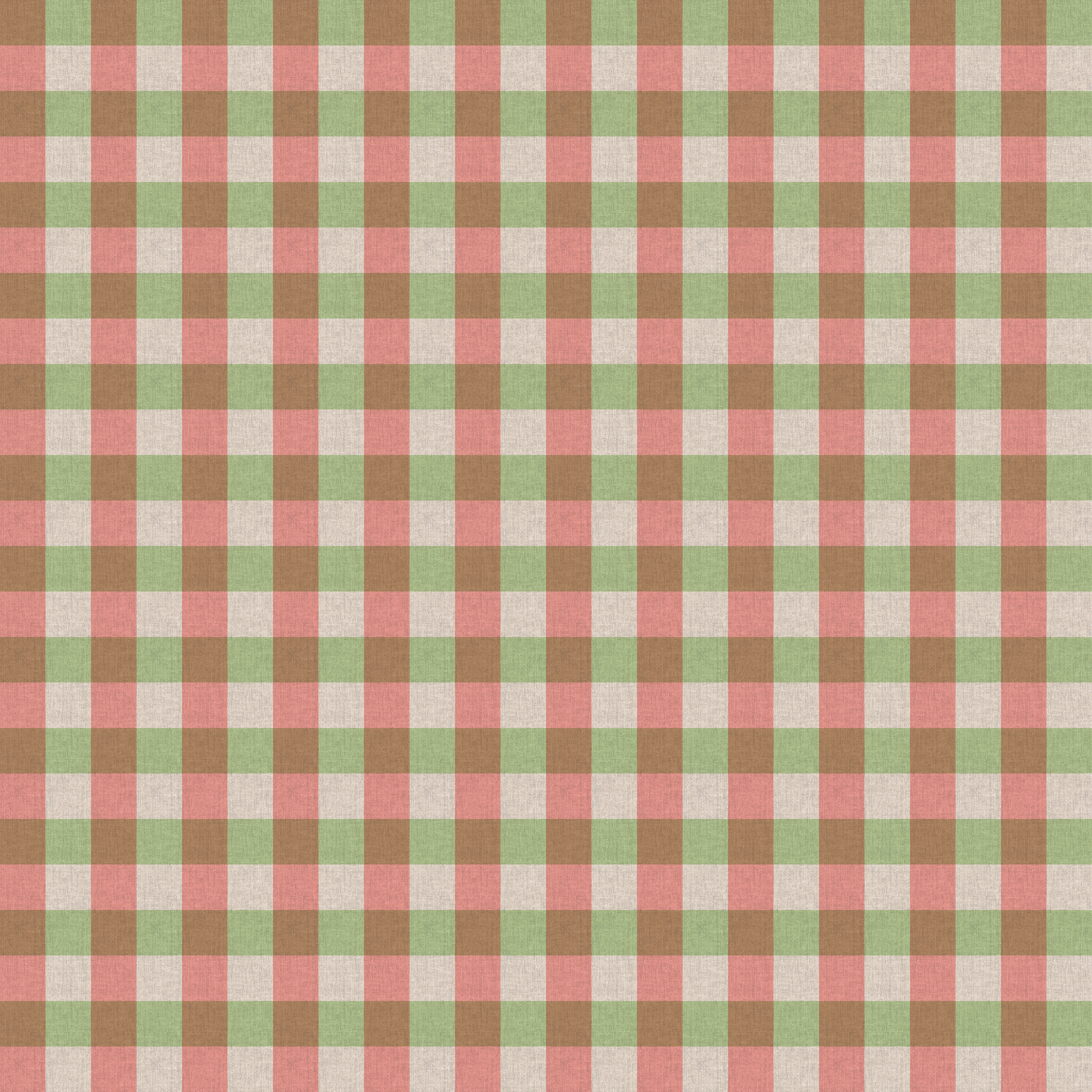green  red checker table cloth