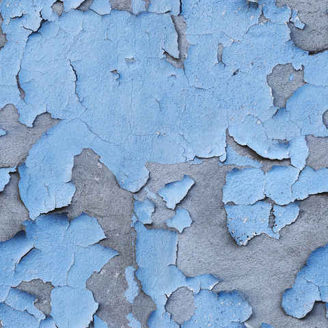 Peeling Blue Paint out of wall